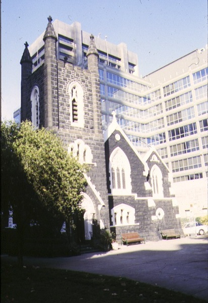 st augustines bourke street melbourne tower elevation 1998