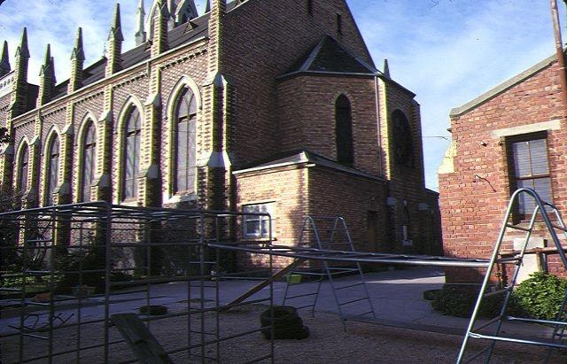 presbyterian church north melb exterior side