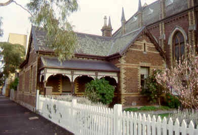 presbyterian union memorial church north melb parsonage sw aug1999