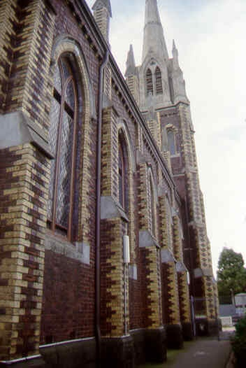 presbyterian union memorial church north melb south detail sw aug1999