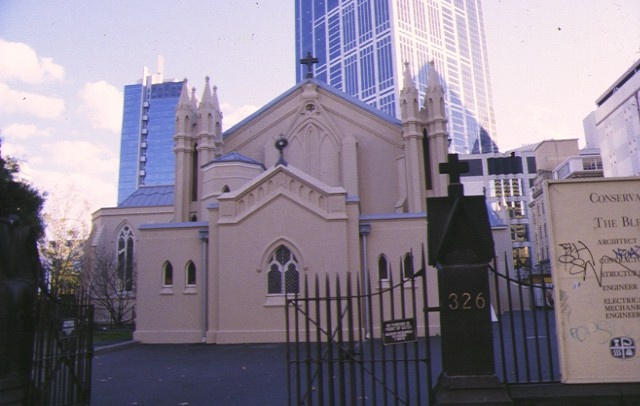 st francis catholic church melb front view