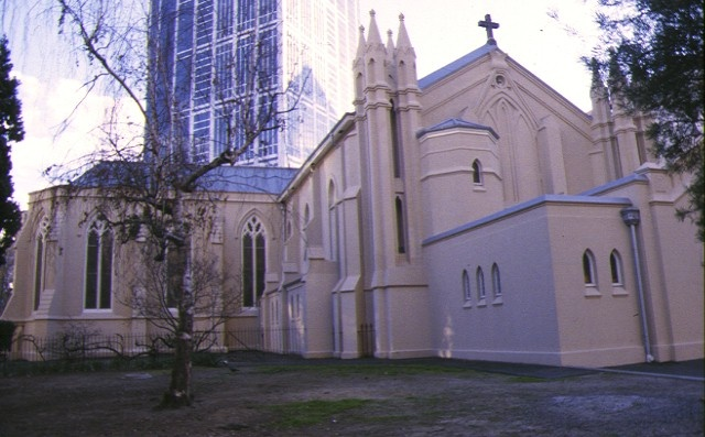 st francis catholic church melb west side view