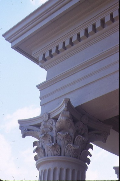 clarendon terrace 208 clarendon street east melb detail column