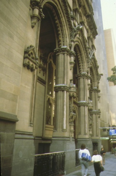 anz bank collins street melbourne entrance to former stock enchange