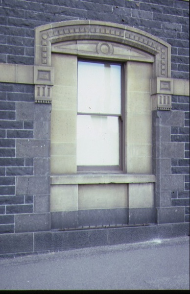 bank of nsw queen street melb exterior window detail