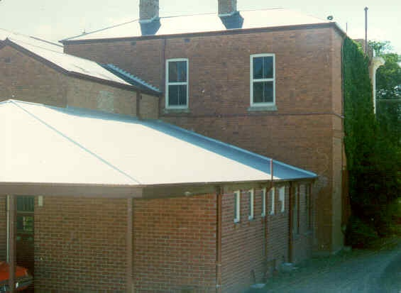 former bank of nsw barker street castlemaine rear view
