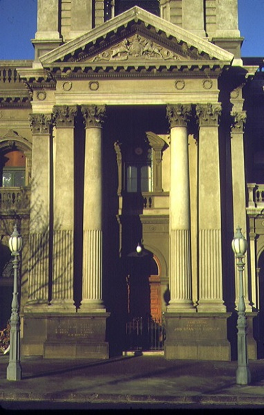 collingwood town hall entrance detail jul1983