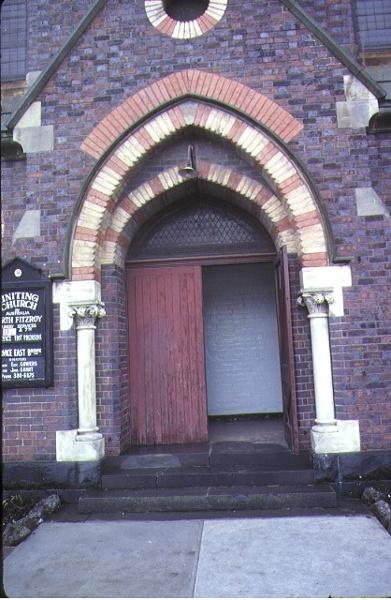methodist church nicholson street fitzroy entrance aug1980