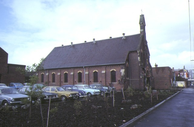 methodist church nicholson street fitzroy side elevation aug1980