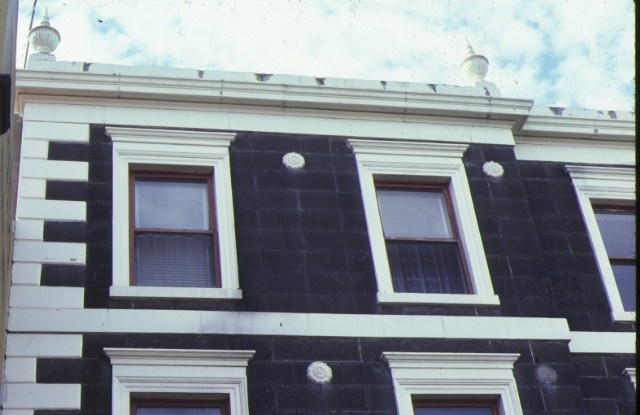 royal terrace nicholson street fitzroy front window detail aug1980