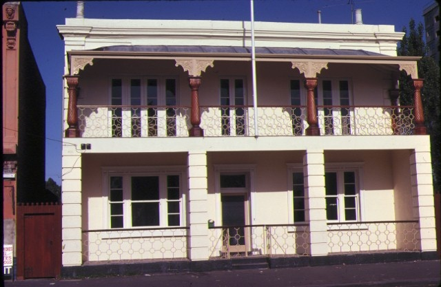 1 residence nelson place williamstown front view with painted cream facade