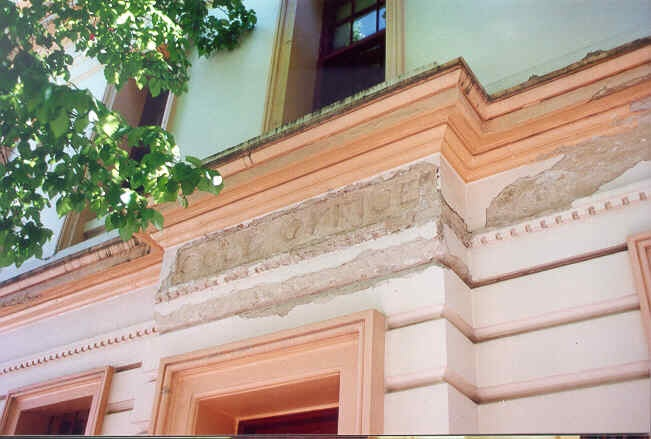 former bank of nsw beechworth facade detail 1995