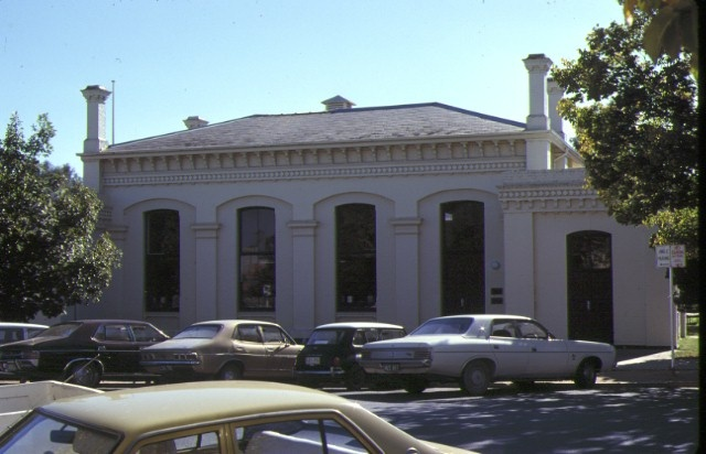 former echuca town hall rear view may1979