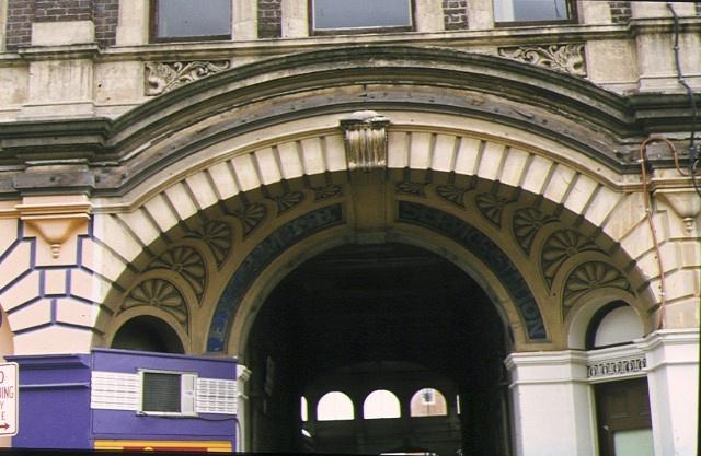 former mining exchange ballarat detail from front entrance oct1980