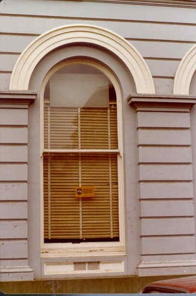 former bank of nsw view street bendigo window detail