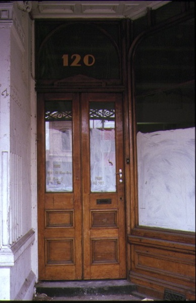 lygon buildings lygon street carlton wooden doorway