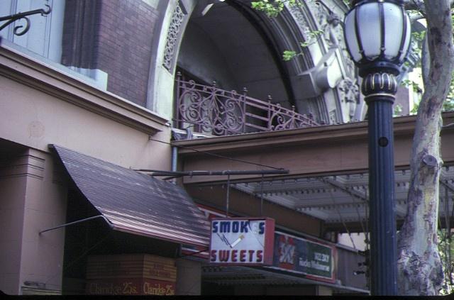 auditorium collins street melbourne entrance arch oct1982