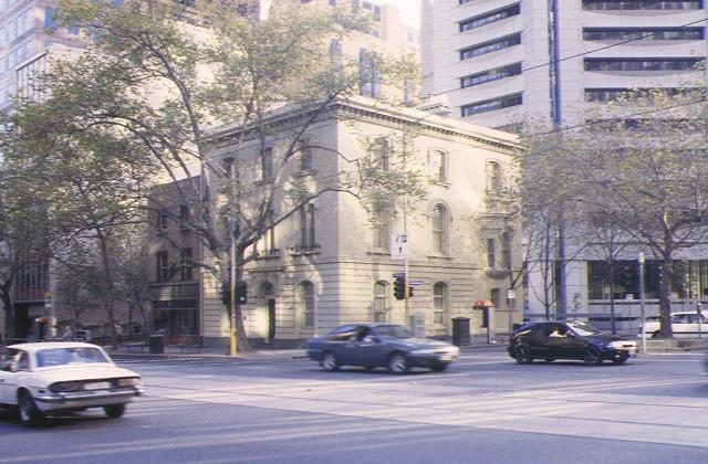 H00422 commercial bank of australia collins street melbourne front elevation