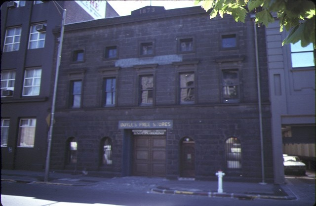 former zanders no3 warehouse king street melb front view
