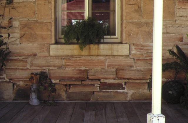 glenisla homestead glenisla via cavendish detail of stone wall sep1985
