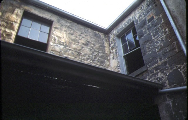 glass terrace gertrude street fitzroy rear stonework aug1978