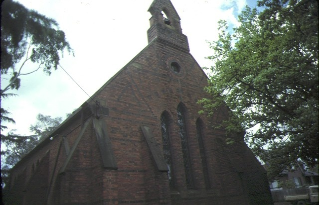 st margaret's church & original vicarage pitt street eltham front-elevation oct1978