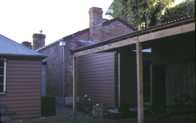 former blacksmiths cottage & shop main street bacchus marsh rear of shop 1997