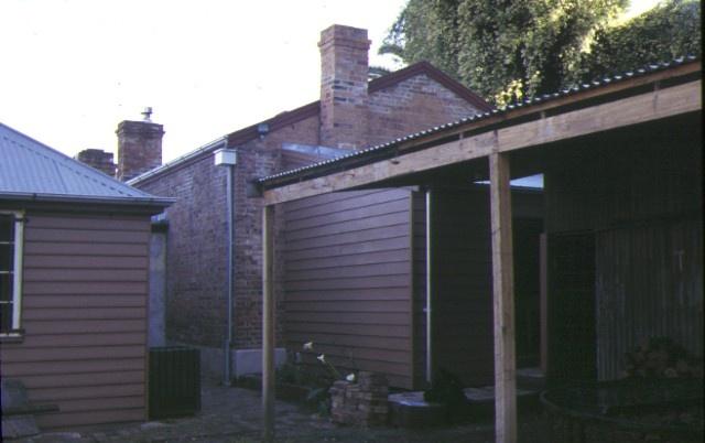 former blacksmiths cottage & shop main street bacchus marsh rear of shop 1997