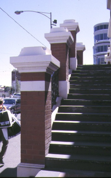 city baths swanston street melbourne front stairs