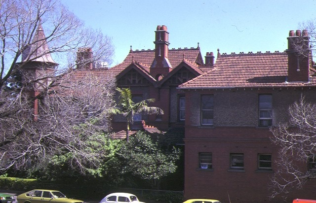 st hildas house clarendon street east melbourne front view roof line