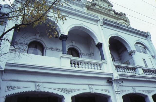 cramond house 23 queensberry street carlton balcony & arch detail jul1979