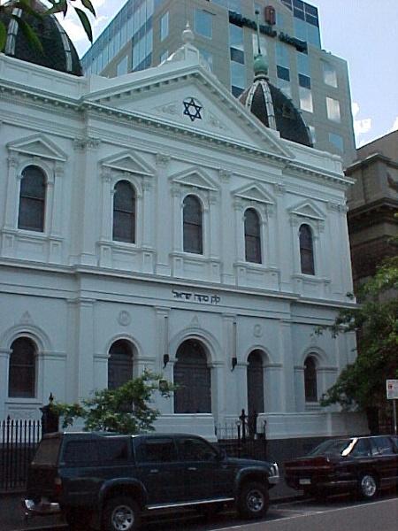 east melbourne synagogue albert street east melbourne entrance view oct1999