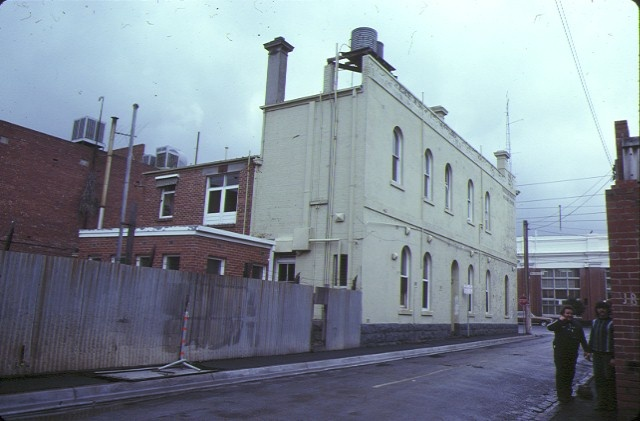 free medical mission dispensary wellington street collingwood rear view aug1979