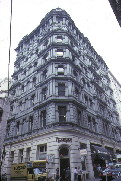 stalbridge chambers little collins street melbourne front elevation may1989