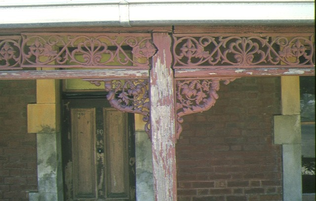residence gisborne rd bacchus marsh detail of iron lace