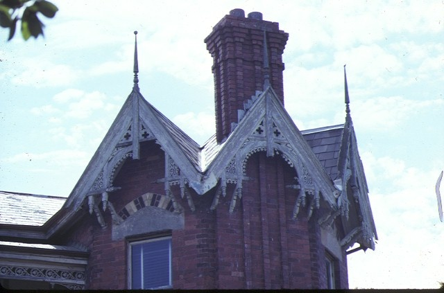 rotha 29 harcourt street hawthorn detail polygonal tower sep1981