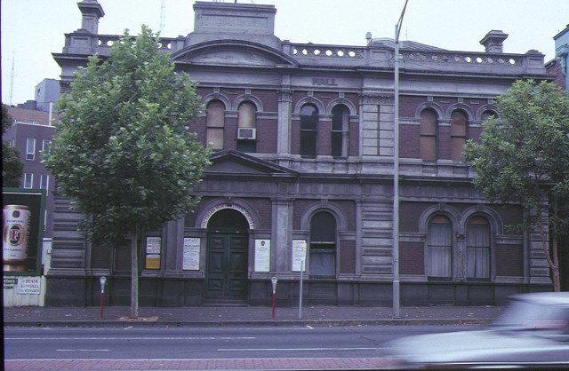 1 horticultural hall victoria street melbourne front view 1991
