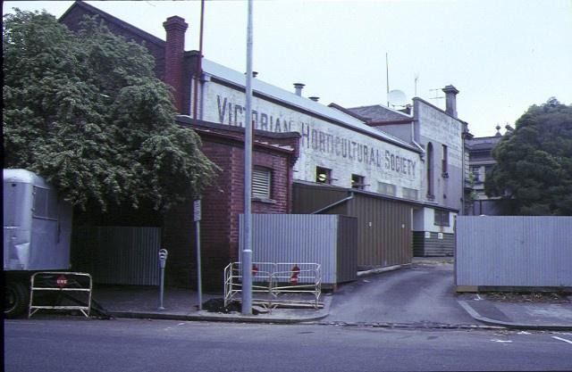 horticultural hall victoria street melbourne side sign 1991
