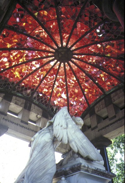 springthorpe memorial kew stained glass ceiling feb1986