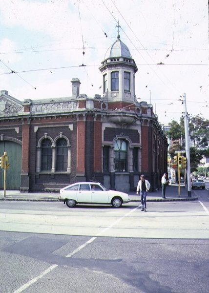 1 cable tram engine house gertrude street fitzroy front corner tower jan1983