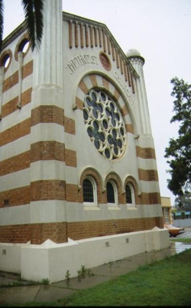 methodist church cnr deakin avenue & tenth street mildura exterior window sep1992