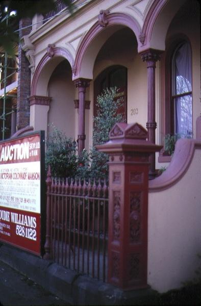 terrace 203 victoria parade fitzroy entrance gate jul1984