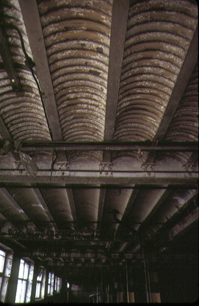 former victoria brewery victoria parade east melbourne interior cellar ceiling sep1985