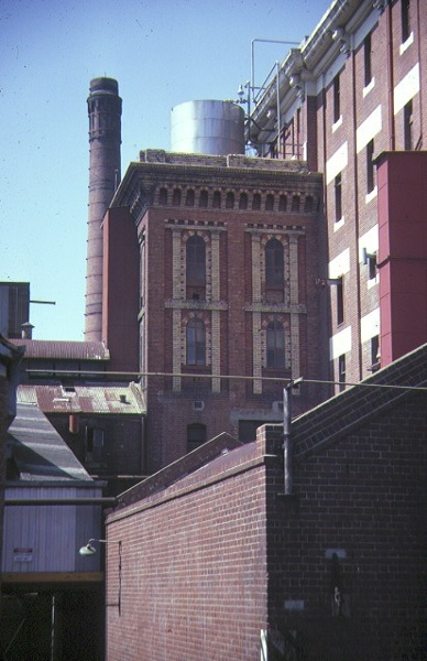 former victoria brewery victoria parade east melbourne rear view mar1985