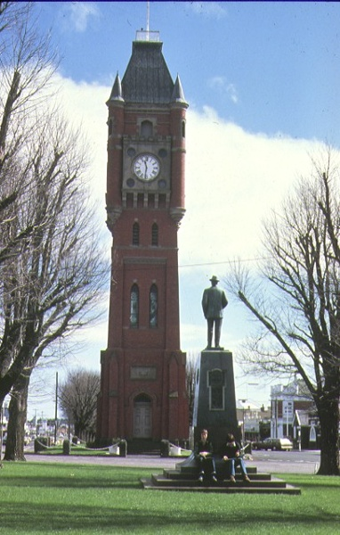 finlay ave of elms precinct camperdown view of clock tower