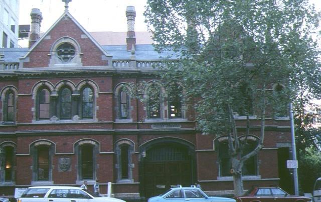 old bourke street west police station & cell blocks bourke street melbourne front elevation