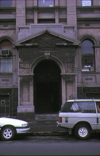 trades hall lygon street carlton detail of entrance