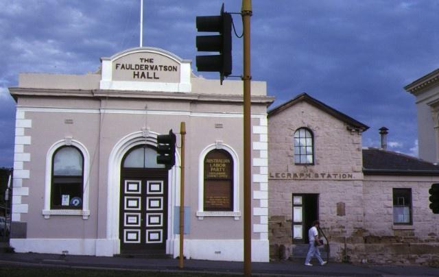 former telegraph office & faulder watson hall barker street castlemaine front view faulder watson hall