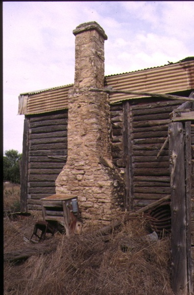 cow plains homestead cowangle side view of homestead with chimney