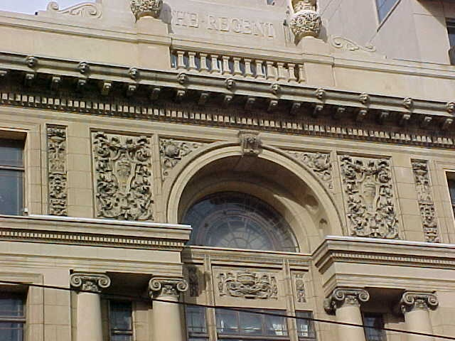 regent theatre collins street melbourne facade detail jul1999